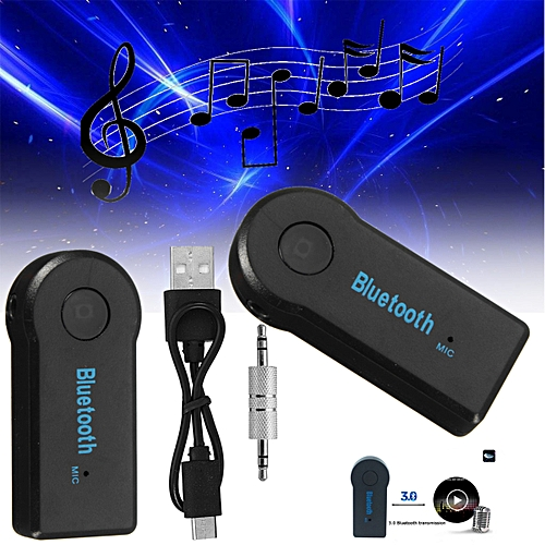 Bluetooth Transmitter Portable Stereo Music 3.5 Mm Audio Adapter USB Charging