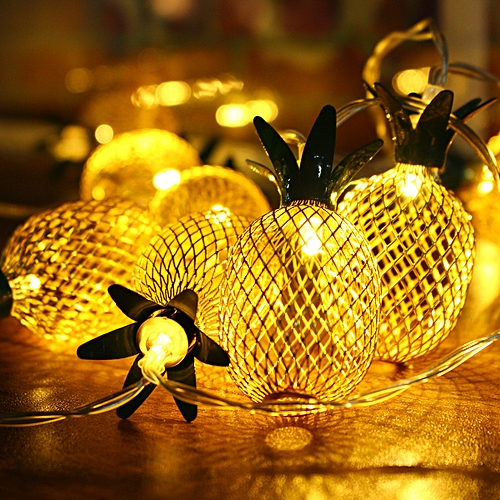 Warm White Christmas Party Decor Outdoor LED Pineapple Fairy String Light Lamp !