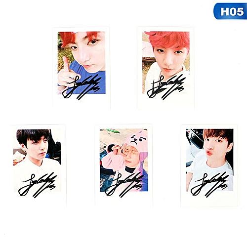 Eleganya 5 Pcs/Set KPOP BTS New Album Fashion Fine Photo Creative Small Cards