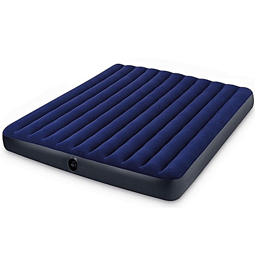 Single Size Classic Downy Airbed With Quick Air Pump - Blue