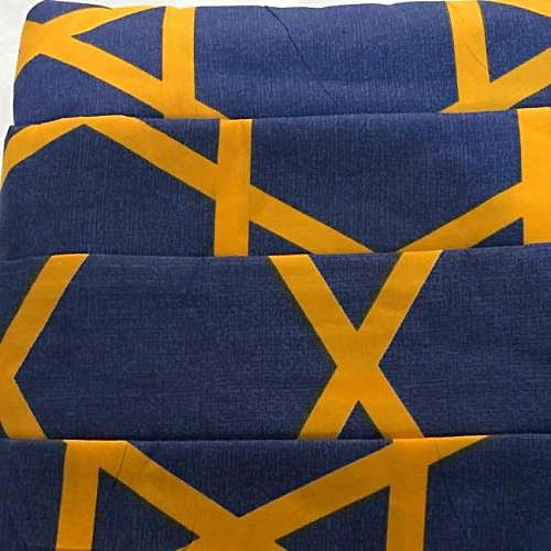 Bedsheet And Duvet With 4 Pillow Cases;Mixed Blue