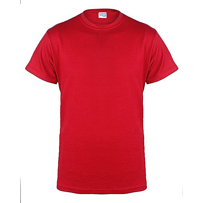 5b1df0c28e2 Danami Plain Round Neck T Shirt- Red