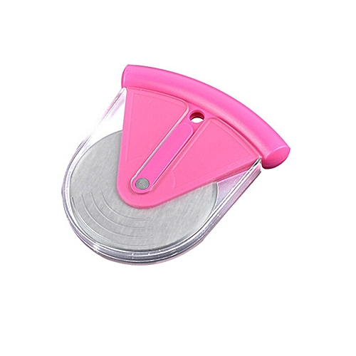 1PC Stainless Steel Pizza Wheels Cutter With PP Cover (Rose)
