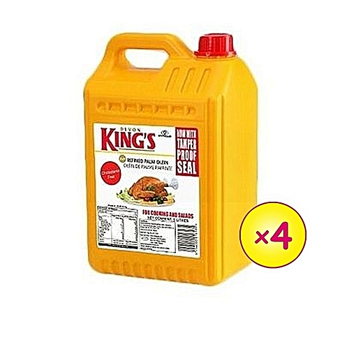 DEVON KING'S Vegetable Cooking Oil - 5 Litres X 4 (one Carton)
