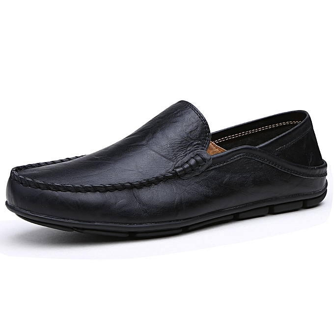 285a9c482d172 Big Size 41-45 Men Casual Moccasins Mens Slip-On Loafers Breathable Driving  Black Shoes-Black