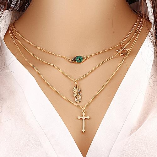 Fashion Layers Chain Necklace Jewelry 32B18