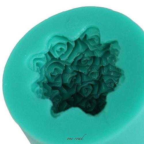 3D Silicone Rose Flower Candle Soap Making Mould Mold Cylinder Wedding DIY Craft