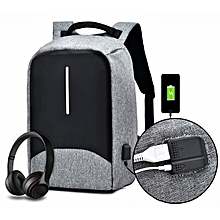 f540508859 2018 Anti-Theft Backpack With Multi-Function Port - Grey