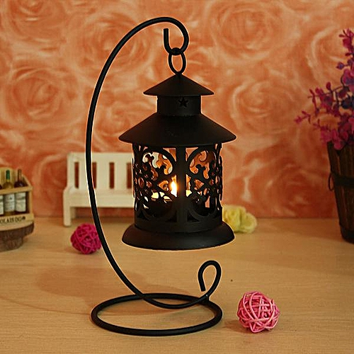 Iron Moroccan Style Candlestick Candleholder Romantic Stand Light Holder Gift US