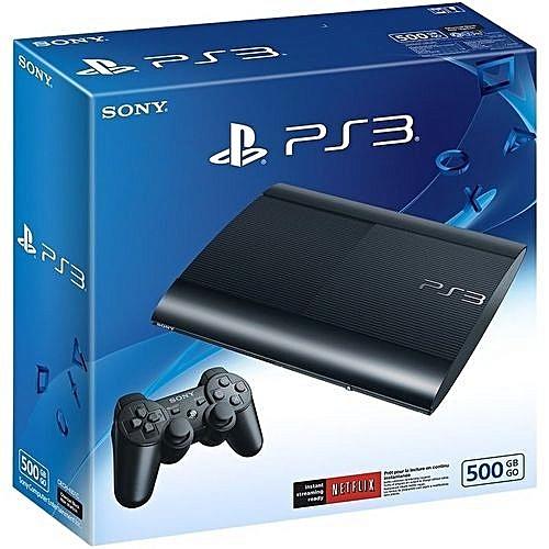Playstation 3 500GB Super Slim Console+20 BONUS GAMES{FIFA19+PES18+ MK9+ETC