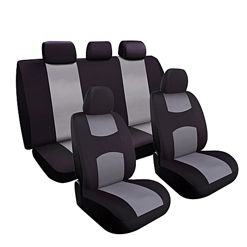 OR Charcoal Car Seat Covers Set Universal Fit For Sedan SUV Truck Split  Bench Black U0026