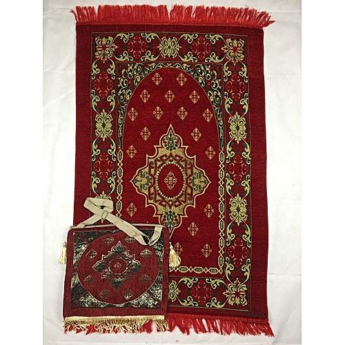 Muslim Prayer Mat With Bag For Travel Bag Prayer Mat ,Islam Prayer Rug With Bag Sets HGV-022