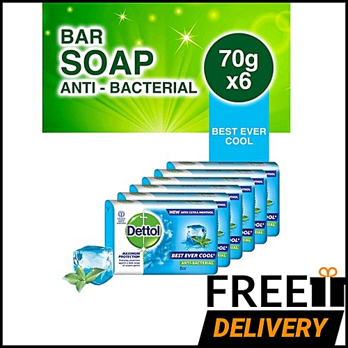 Best Ever Cool Anti-bacterial Soap 70g - Pack Of 6