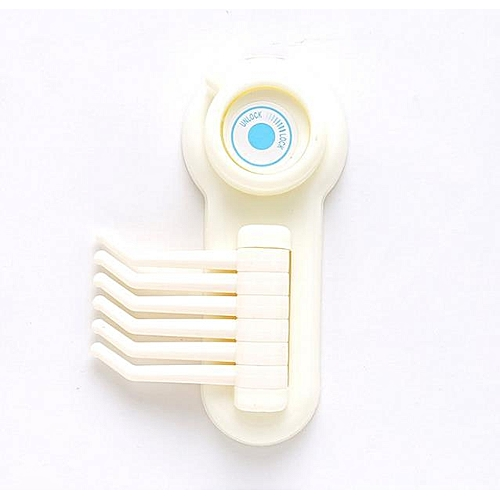 Kitchen Bathroom Wall Plastic Strong Suction Cup Multi-Hanger Hook Sucker For Key Towel