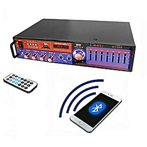 Amplifier With Bluetooth, USB, EQ, & 2 Mic Ports, - 350Watts
