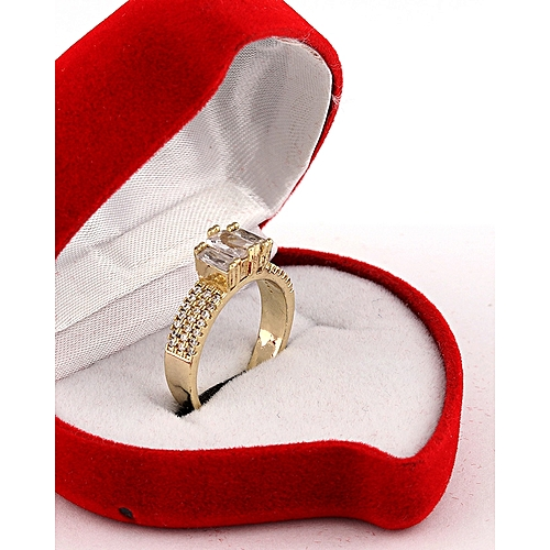 452f548b5358 Fashion Emily Engagement Ring 18 Karat Gold Plated   Jumia.com.ng