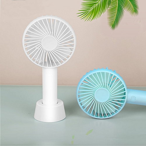 Mini Handheld Fan, Portable Rechargeable Battery Operated Small Personal Fan Desk Desktop Electric Fan For Office Home Dorm Travel Outdoor, Powerful 3 Speeds Adjustable And Cute Stand (Fresh Green)