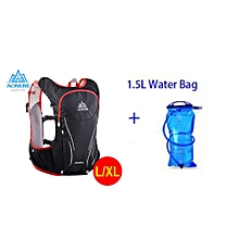 2018 Women Men Marathon Hydration Vest Pack For 1.5L Water Bag Cycling Hiking Bag Outdoor Sport Running Backpack(red LXL And Bladder) for sale  Nigeria