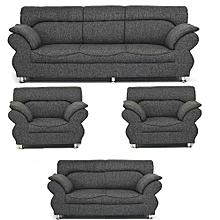 PAWA FURNITURE 'ABUNDO SUPER GREY' 7 Seaters Sofa +