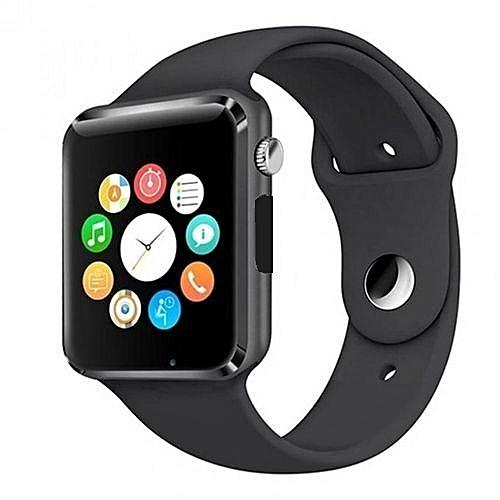 A1 Smartwatch With Sim & Memory Card, Camera & Pedometer-Black