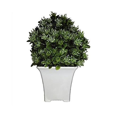 Devon Artificial Plant in Plastic Pot 19cm -Green