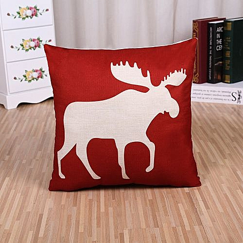 Retro Linen Square Cushion Decorative Pillowcase - Colorful