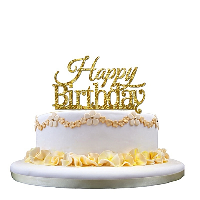 Birthday Cake Topper Happy Candle Party Supplies Decorations A