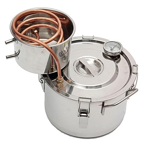 Honana 2GAL/8L Copper Moonshine Ethanol Alcohol Water Distiller Stainless Boiler Wine Making Tools