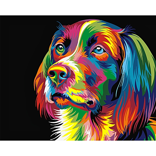 Digital Diy Oil Painting By Numbers Wall Decor On Canvas Oil Paint Coloring By Number Drawing Animal