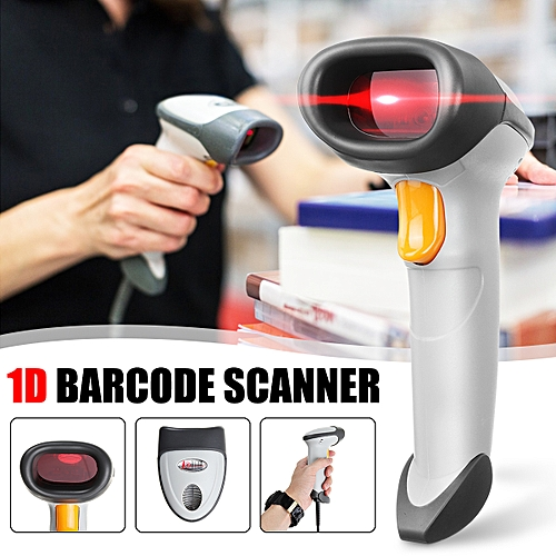 High Speed Automatic Handheld Wired Barcode Scanner Reader 1D Bar Code Laser