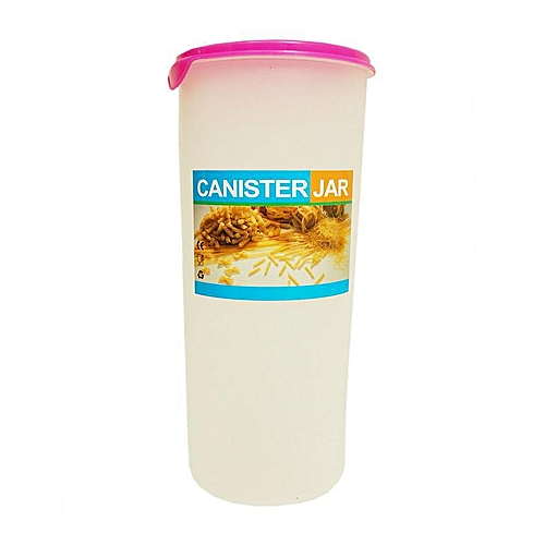 Single Cereal/Pasta Canister Container - White
