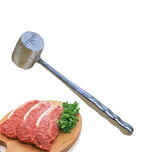 Two Sides Aluminum Oval Meat Mallet Hammer Tenderizer Chicken Pork Beater