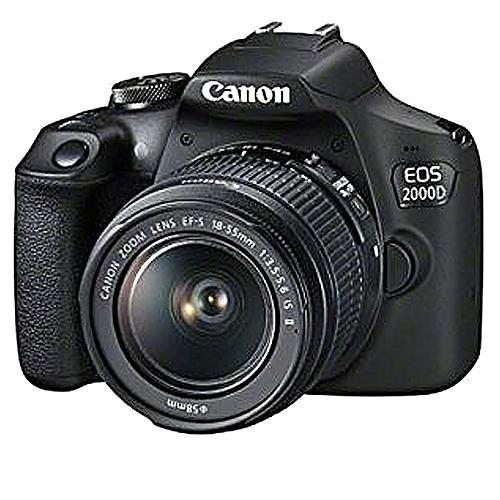 EOS 2000D DSLR Camera With EF-S 18-55 Mm F/3.5-5.6 IS II Lens - Black