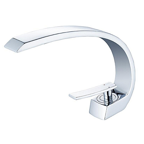 """Inchant 1 Handle Bathroom Faucet Commercial Basin Mixer Tap Chrome Finish 1 Hold Deck Mount With 3/8"""" Supply Line"""
