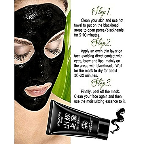 BioaQua Blackhead Remover Mask, Purifying Peel-off Mask With Activated  Charcoal Deep Pore Cleanse For Acne