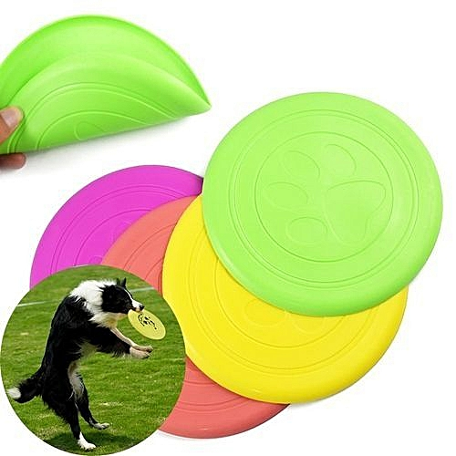 Dog Supplies Silicone Pet Frisbee Soft Light Training Pet Dog Toys - Colorful