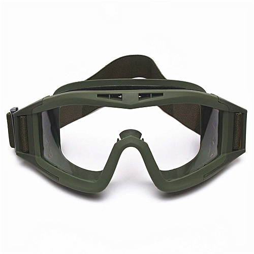 CS Tactical Military Goggles Outdoor Sports Hunting Shooting Eye Safe Goggles Green