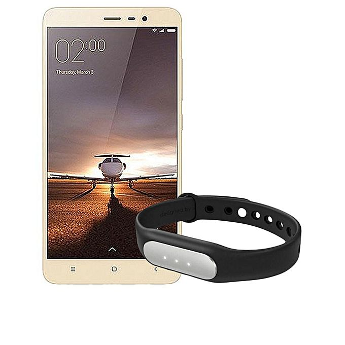 Mi xiaomi redmi note gold band s with heart rate