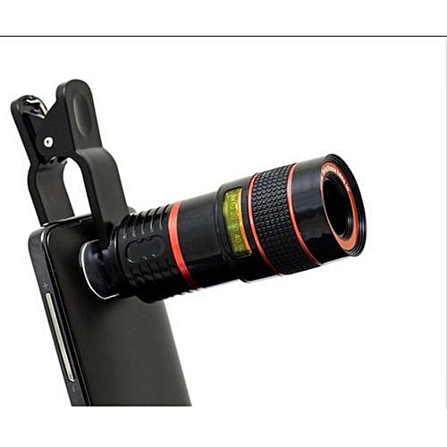 Universal Long Distance Range Monocular Smartphone Telescope 8x Zoom For Mobile Phone Camera Designed For Android, IPhone And Apple Devices