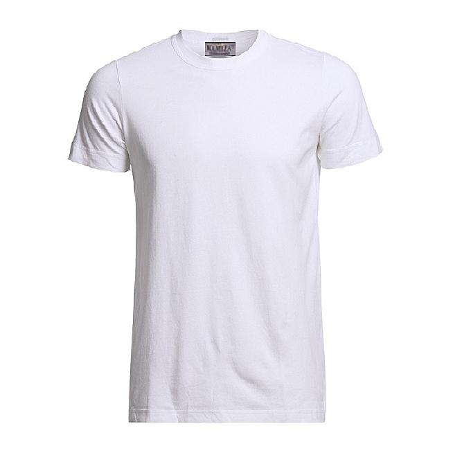 1f0f1a47 KAMIZA Short Sleeve Plain T-shirt - White | Jumia.com.ng