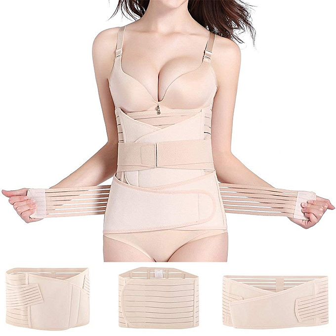 4dc0aa19290 Fashion 3 In 1 Postpartum Girdle Support Recover Bell C Section Belt ...