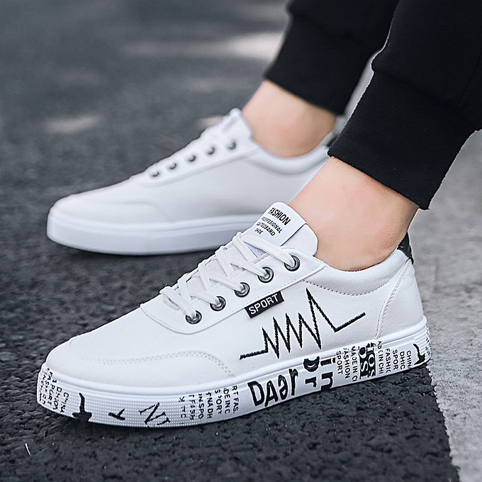 0ff8e742f2f3fb New 2018 Spring Summer Canvas Shoes Men Sneakers Low Top Shoes Men's Casual  Shoes-white