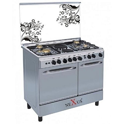 Nexus NX-8001S (4+1) Double Oven Electric And Gas Standing Cooker