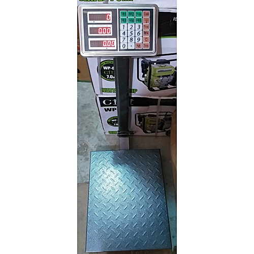 DIGITAL PLATFORM SCALE WITH CHECKERED PLATE-300KG