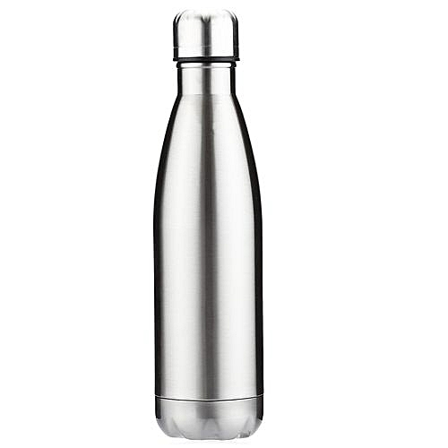 500ML Cola Style Stainless Steel Water Bottle - Silver