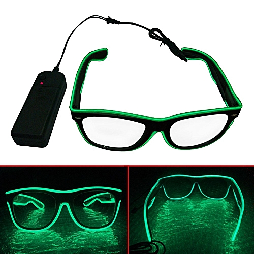 LED Glow Glasses EL Wire Light Up Shutter Neon Glasses Fashion Decoration For Costume Party Supplies Halloween Christmas Gifts