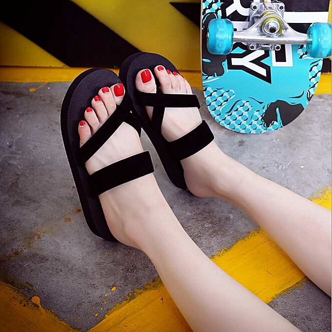 eb7149260 Womens Summer Flip Flops Casual Slippers Flat Sandals Beach Open Toe Shoes  36