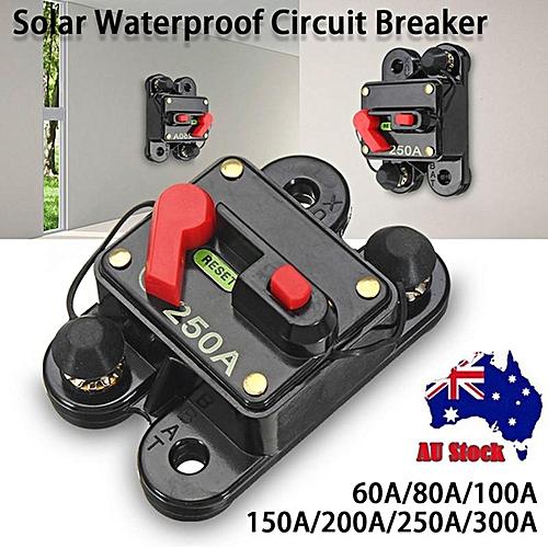 Small Box With A Number Signs 12V 24V DC 60A 80A 100A 150A 200A 250A 300A DC Solar Waterproof Circuit Breaker Single