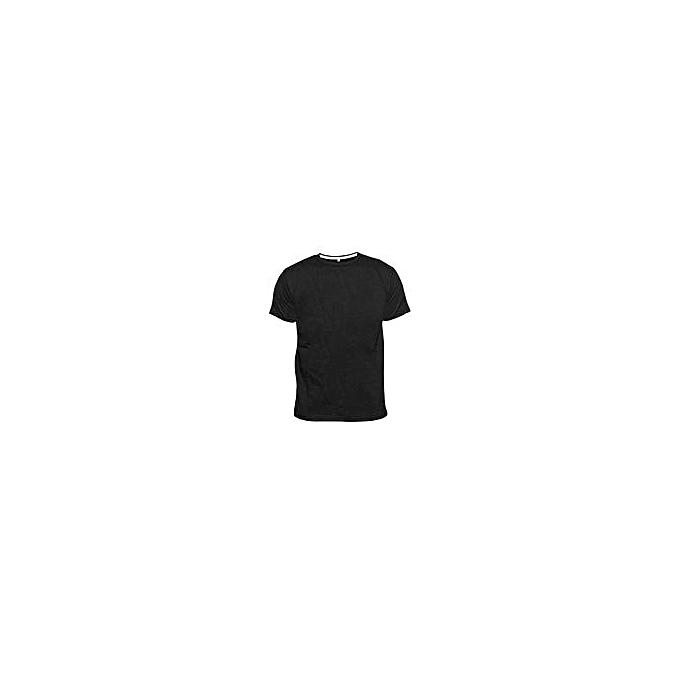 0a773f8177c Fashion Plain Crew Round Neck T-Shirt - Black