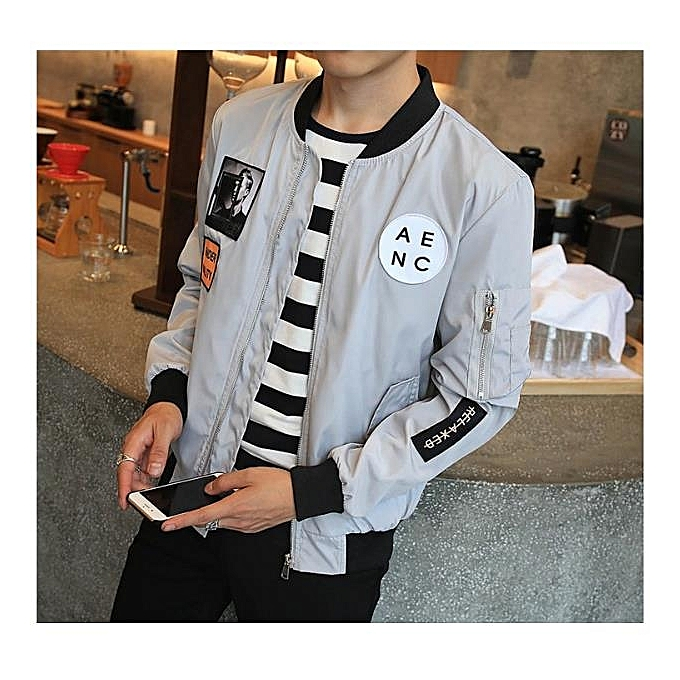 239f467d287 2017 New Men Bomber Jacket Hip Hop Patch Designs Slim Fit Pilot Bomber  Jacket Coat Men
